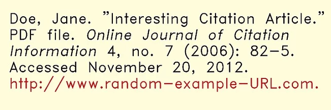 Chicago Style Article Basic Example