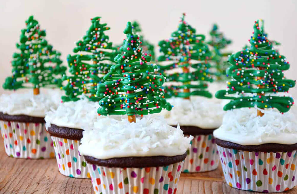 Chirstmas Trees Cupcakes