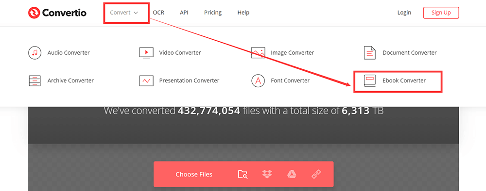 Convertio Homepage Convert Ebook Converter