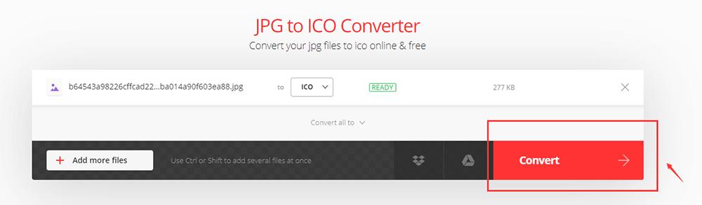 Convertio JPG to ICO Convert File
