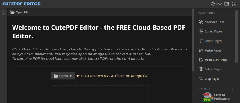 CutePDF 편집기 홈페이지