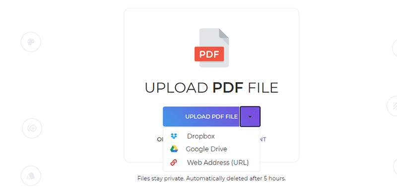 DeftPDF Upload PDF File