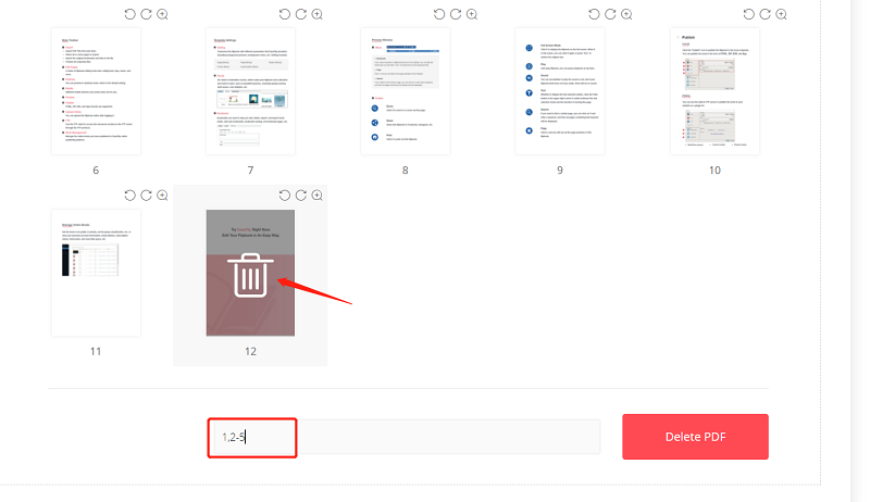 Delete Unwanted Pages from PDF