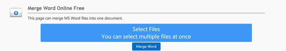 DocSoSo Merge Word Select Files