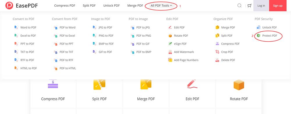 EasePDF Protect PDF