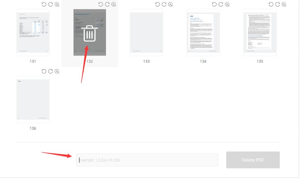 EasePDF Delete PDF Pages