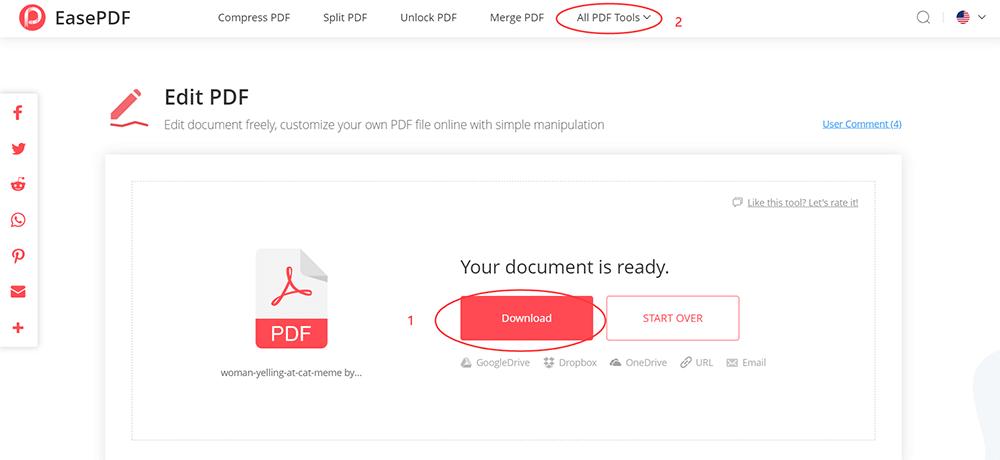 EasePDF Download PDF Woman Yelling at Cat