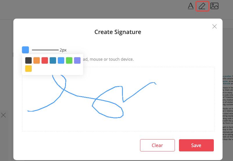 EasePDF Edit PDF Add Signature