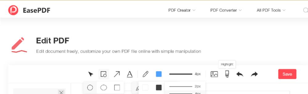 EasePDF Edit PDF Highlight