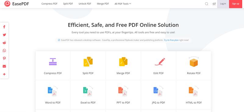 EasePDF Homepage