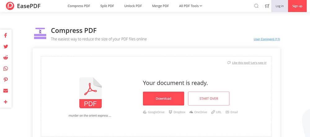 EasePDF PDF Compressor Komprimiertes Buch herunterladen