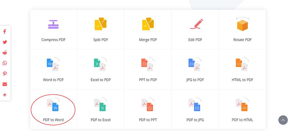 EasePDF PDF to Word