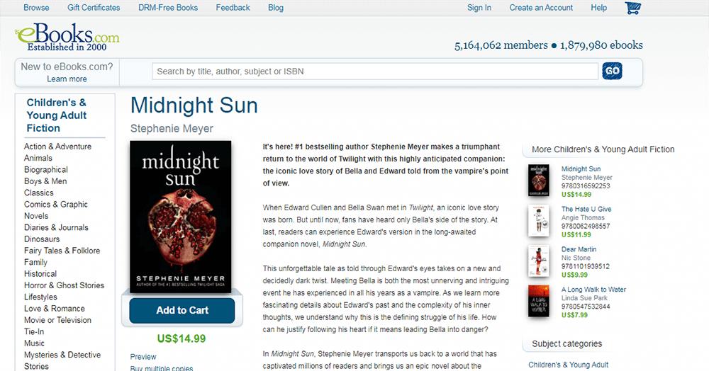Ebooks Midnight Sun