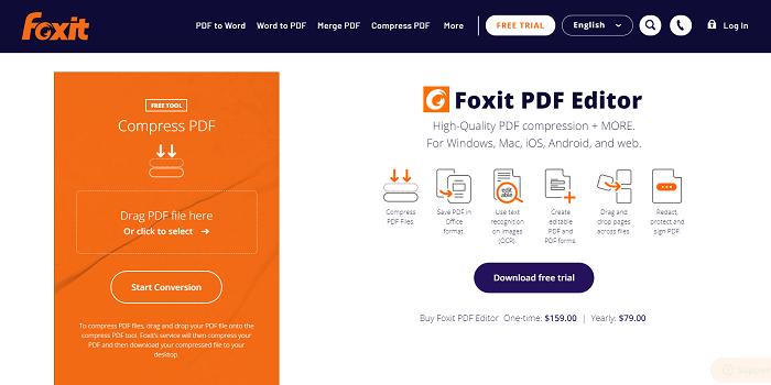 Foxit Online PDF Compressor