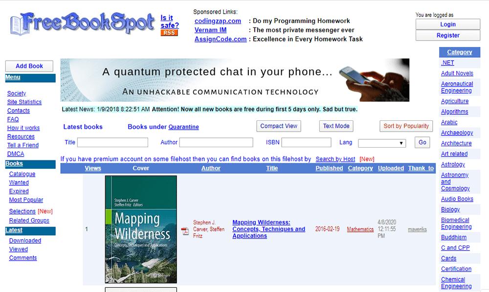 FreeBookSpot Search Textbook