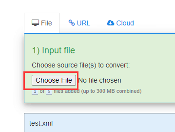 FreeFileConvert Choose File