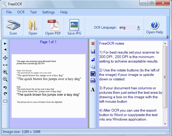 FreeOCR Convert Image to Text