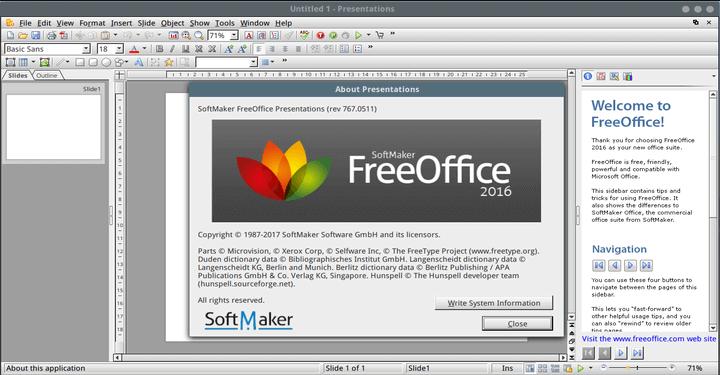FreeOffice Präsentation