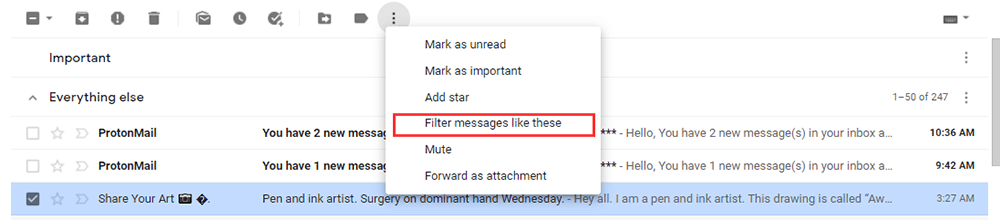 Gmail Filter Messages Like These