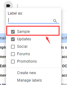 Gmail Label Create New Label