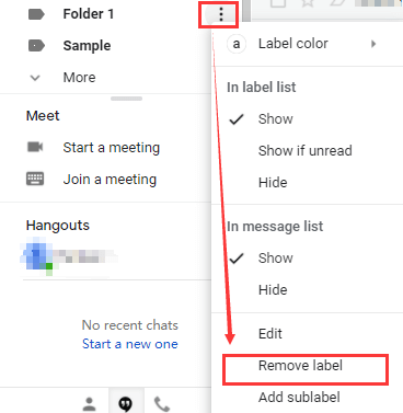 Gmail Remove Label