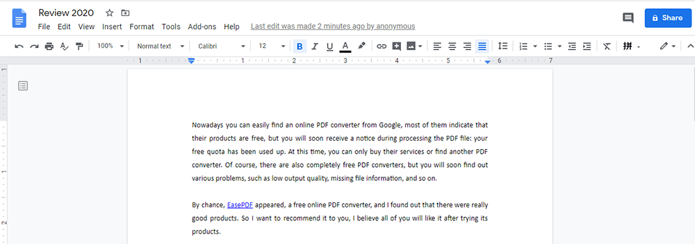 Google Docs Edit Word Document