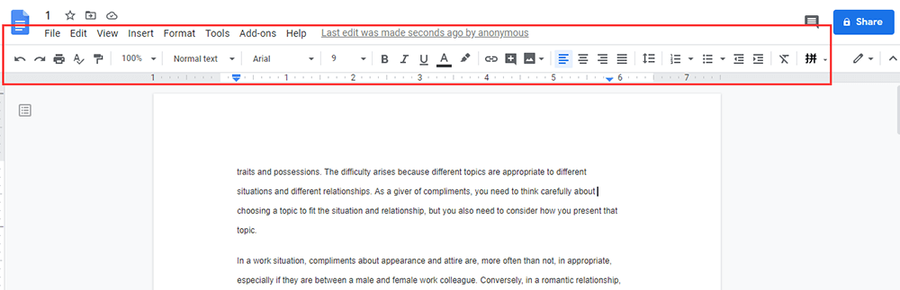Google Docs Editing