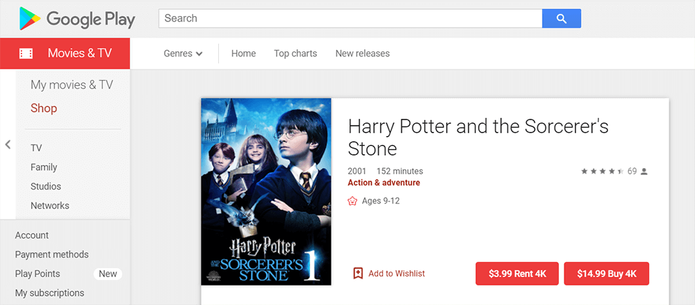 Google Play Harry Potter and the Sorcerer's Stone