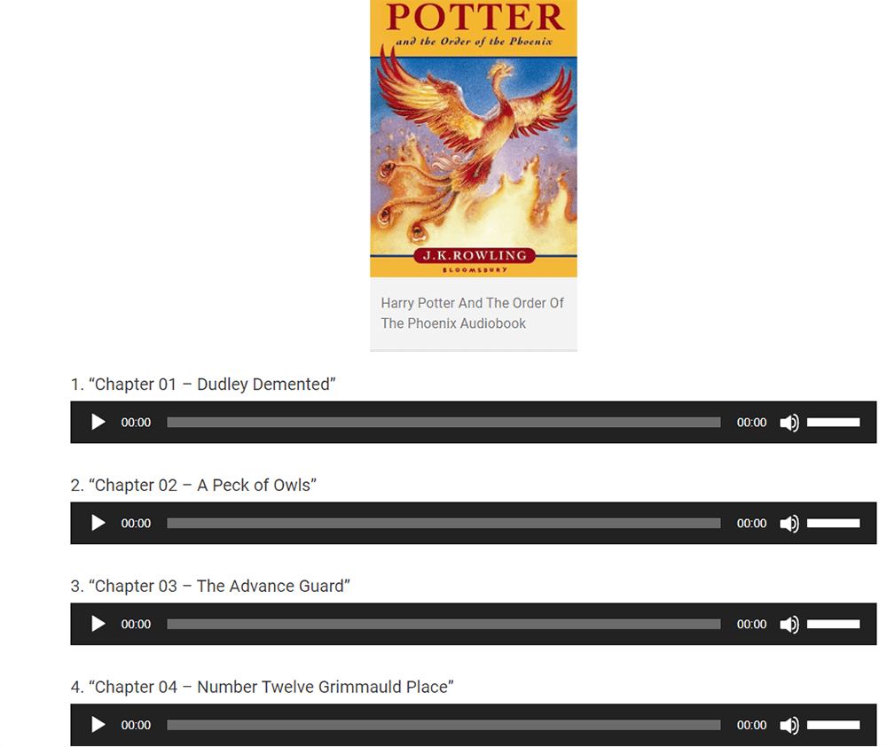 Harry Potter Audiobooks Harry Potter and the Order of the Phoenix