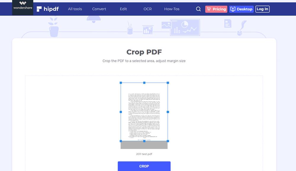 Hipdf 자르기 PDF PDF 크기 조정