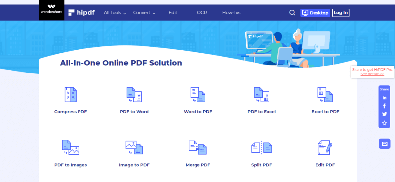iLovePDF alternativo Hipdf