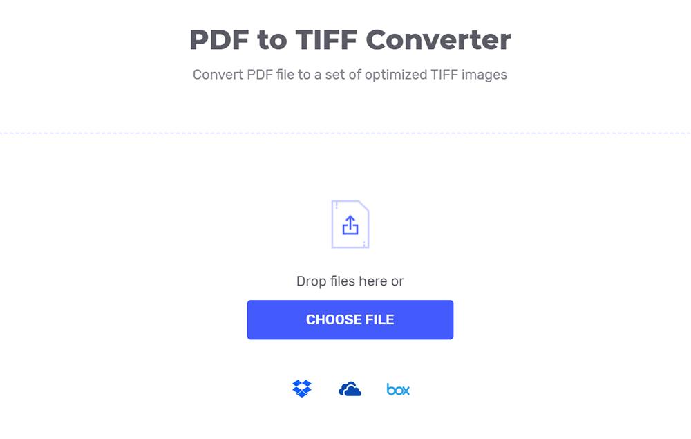 Hipdf PDF to TIFF 변환기 업로드 파일