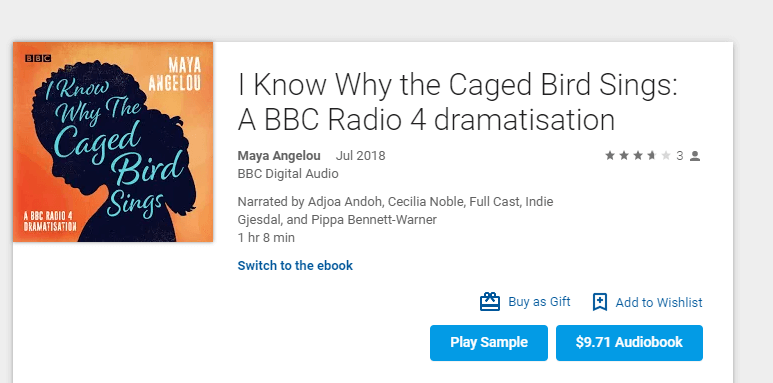 I Know Why the Caged Bird Sings BBC Audiobook