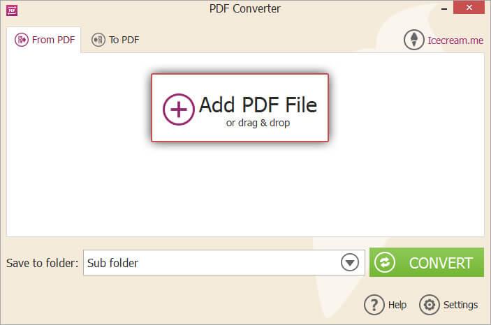 IceCream PDF Converter Add File