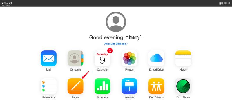 Pages de iCloud Launchpad