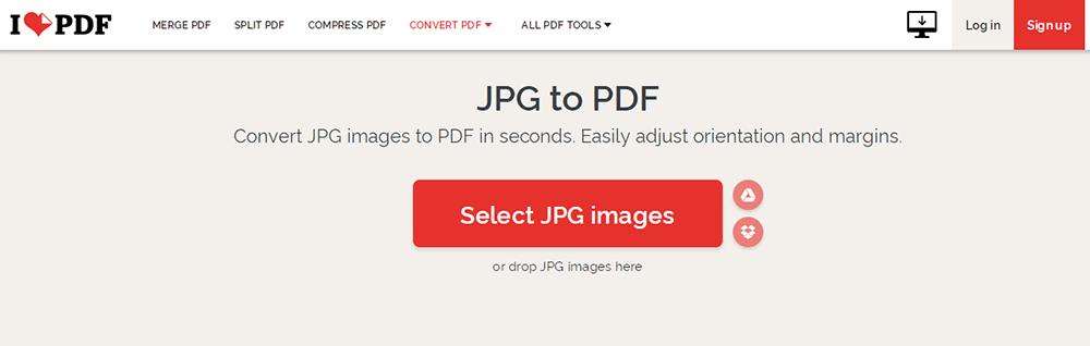iLovePDF Image to PDF