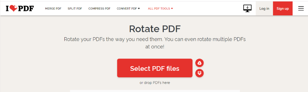 iLovePDF Select Files PDF