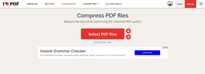 iLovePDF Compress PDF Files