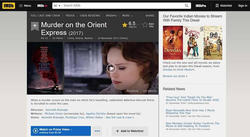 IMDB-Mord am Orient Express