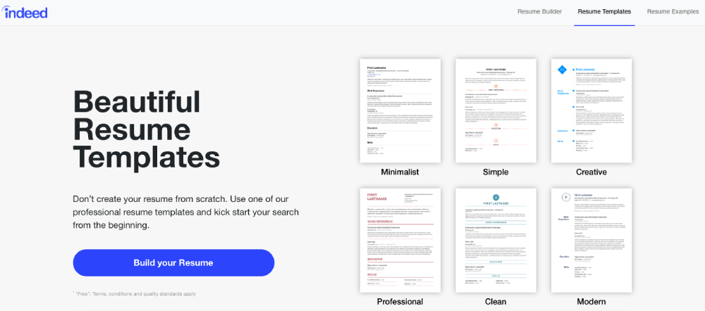Resume Templates Indeed