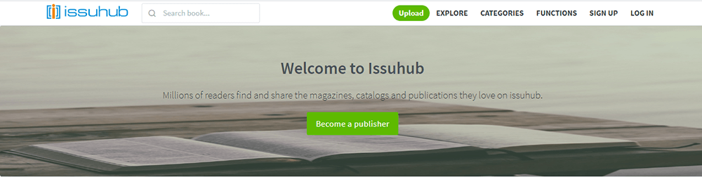 Issuhub Become a Publisher
