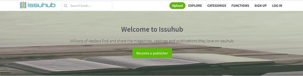 Issuhub Conviértete en editor