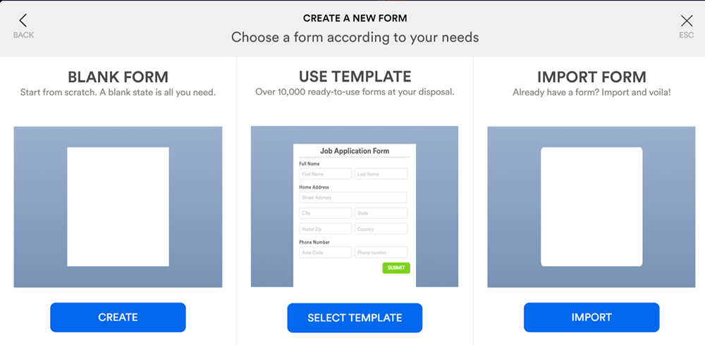 JotForm Create a Fillable PDF Choose a Form