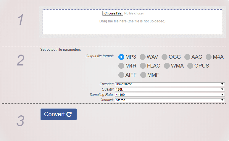 JS Audio Converter Convertir archivo de audio