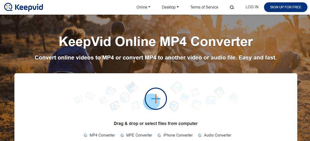 Homepage di KeepVid