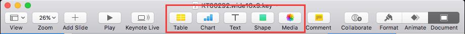 Keynote Toolbar