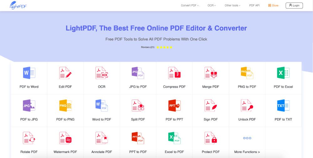 iLovePDF Alternative LightPDF