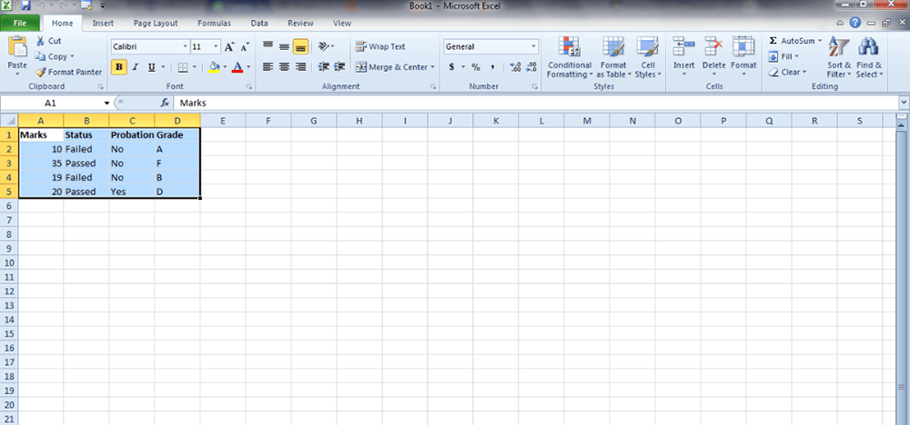 Microsoft Excel Select an Entire Spreadsheet