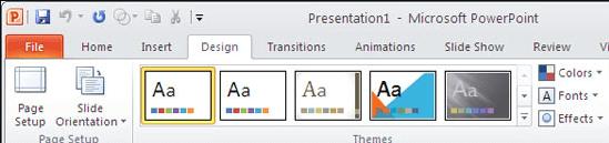 Microsoft PowerPoint-Designthemen