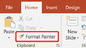 Microsoft PowerPoint Home Format Painter